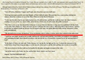 Gramp Bill Edited David Whitmer's Proclamation to the World